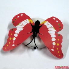 Бабочка светящаяся красная