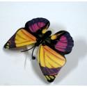 Бабочка светящаяся желто-фиолетовая