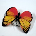 Бабочка светящаяся желто-красная