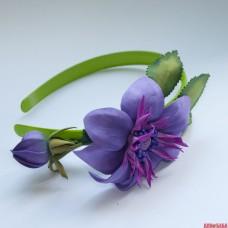 "Ободок ""Синие цветы"""