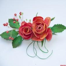 "Заколка ""2 розы"""