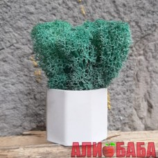 Кашпо Бочка со мхом цвета Изумруд