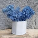 Кашпо Бочка со мхом синего цвета